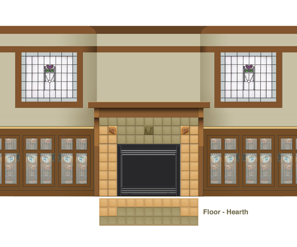 this is the selected fireplace wall design tile coloration has been modified